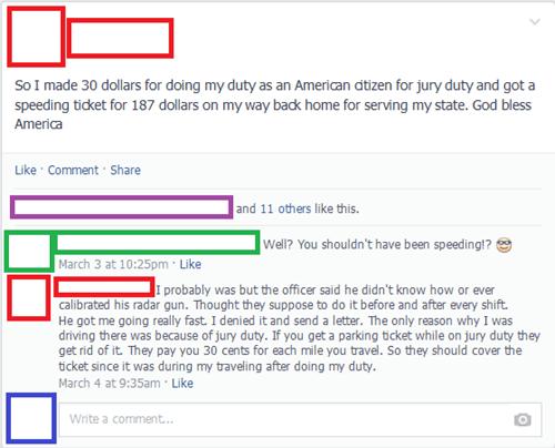 facebook,jury duty,police,failbook