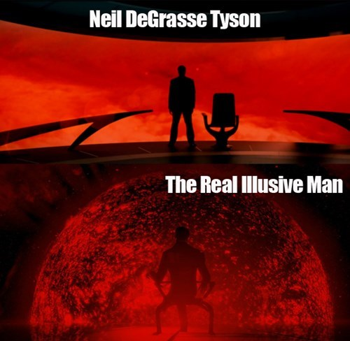 illusive man,cosmos,mass effect,video games,Neil deGrasse Tyson