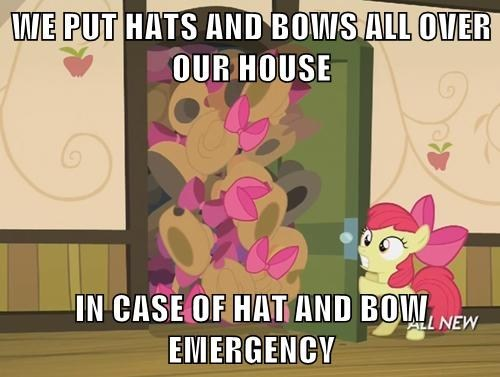 apple bloom,hats,bows