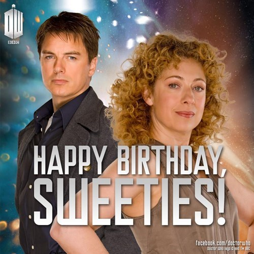 Happy Dual Birthday To Alex Kingston and John Barrowman