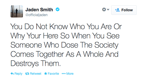 Just a Reminder: Jaden Smith Still Has the Best-Worst Tweets