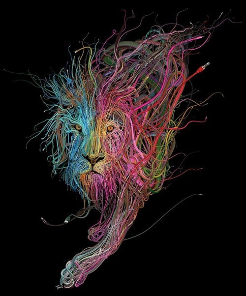 Charis Tsevis Turns That Nest of Cables into Beautiful Art