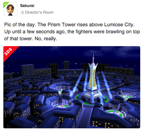 Check Out Your First Look at Lumiose City in Smash Bros