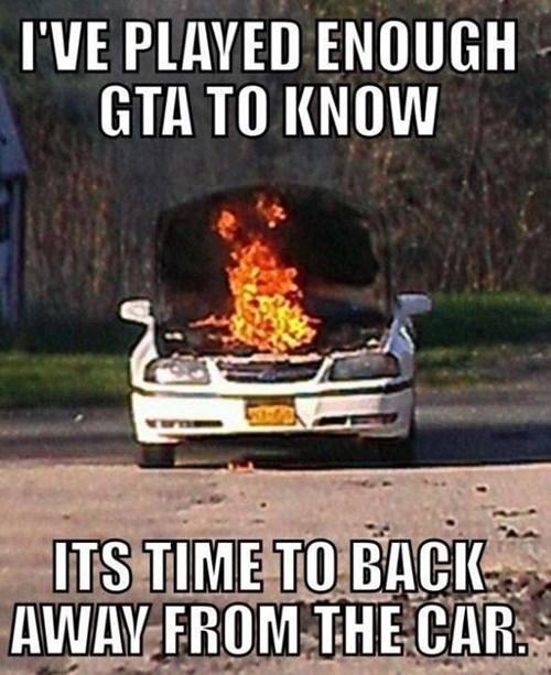 fire,GTA V,cars,Grand Theft Auto