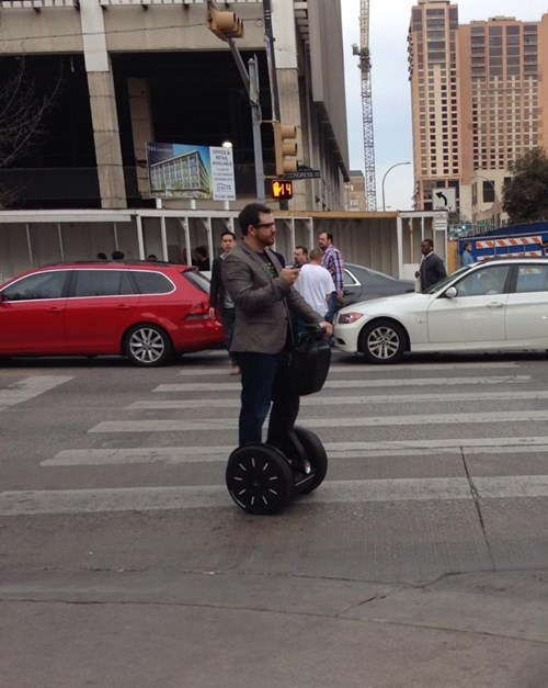 Only at SXSW Could You Find a Glass-Wearing Segway-Driving Texter