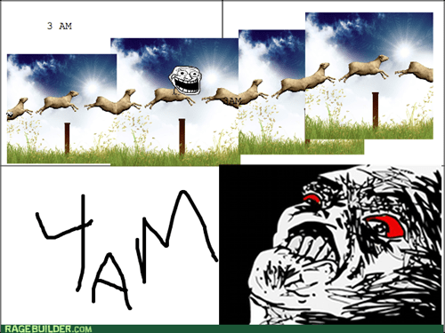 trollface,counting sheep,insomnia