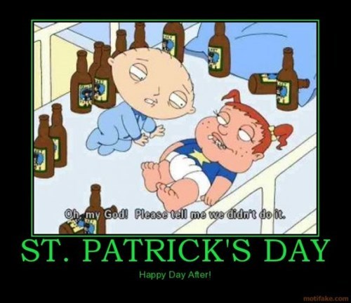 St Patrick's Day,funny,next morning,waking up