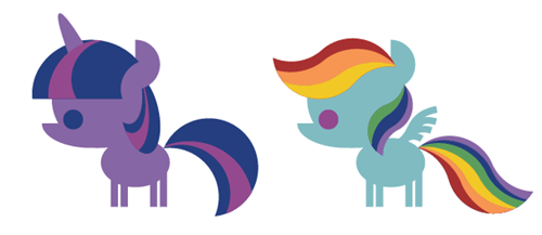 Adorable Vector Ponies