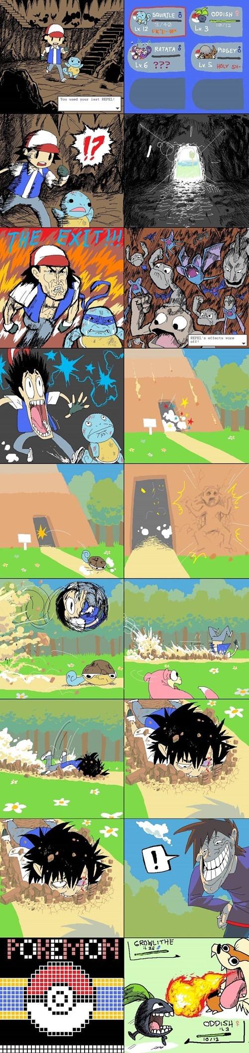 Pokémon,gary oak,web comics