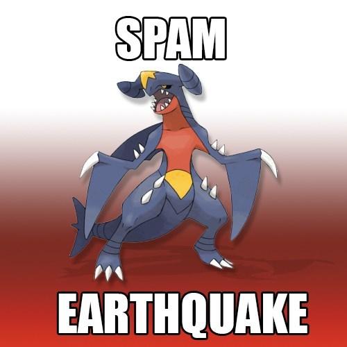 garchomp,earthquake