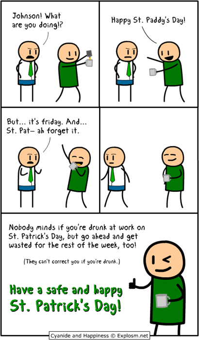 drinking,St Patrick's Day,web comics