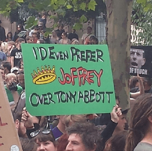 Funny Australian Protest Sign