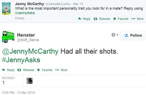 Jenny McCarthy Asks a Stupid Question, and Gets Amazing Answers