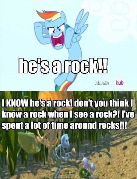 he's all about rocks