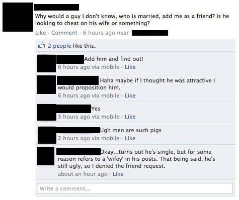ouch,affair,facebook,men vs women