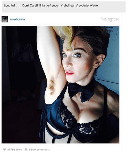 I'm Pretty Sure She Wants Us to Look Her Armpit Hair...