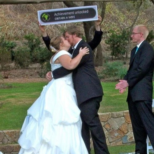 wedding,video games,achievements,funny,g rated,dating