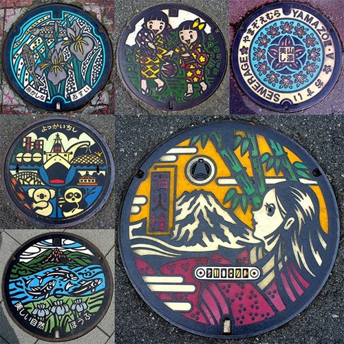 Manhole Covers Become Cool Street Art in Japan