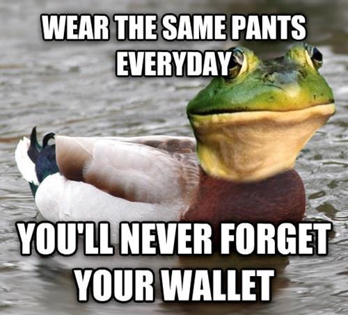 Actual Advice Mallard,foul bachelor frog,advice animals
