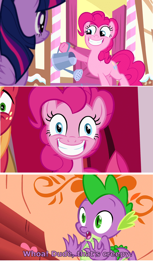 Please don't smile like that Pinkie.