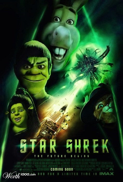 posters,photoshop,Star Trek,shrek