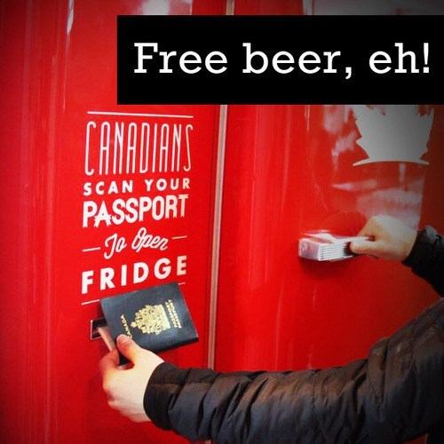 All Over the World Canadians Are Getting Free Beer By Scanning Their Passport
