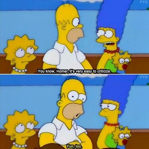 homer simpson,criticism,funny,stupid