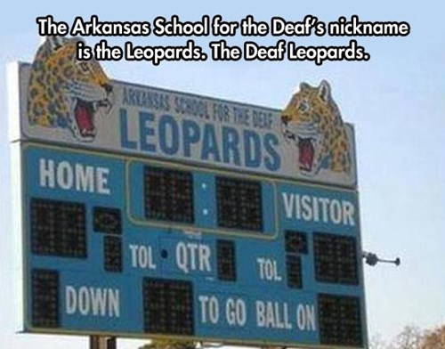 arkansas,Def Leppard,high school,mascots,school