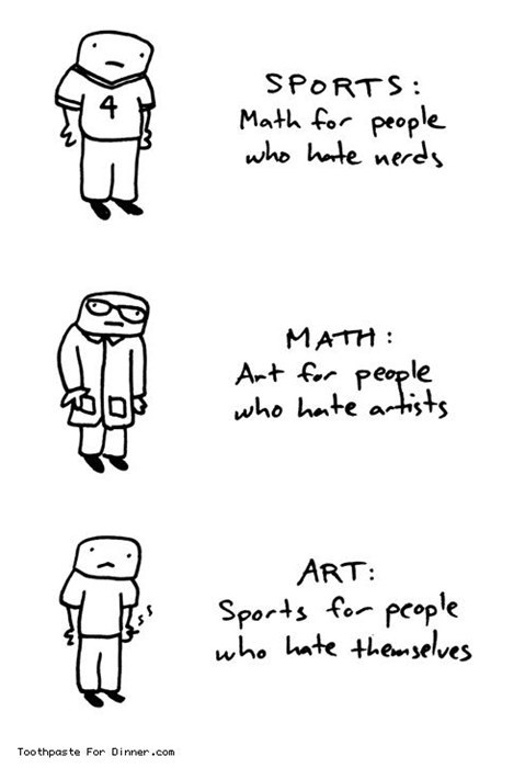 Sports, Math and Art Aren't Too Different