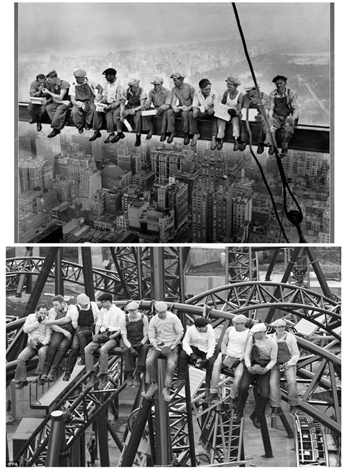amusement park,construction,monday thru friday,homage,roller coaster,work