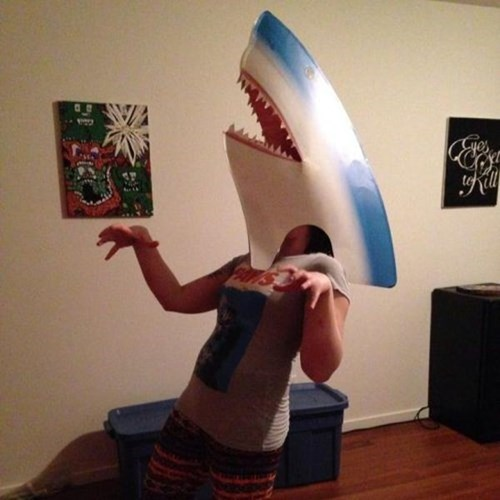 jaws,mask,poorly dressed,shark,g rated