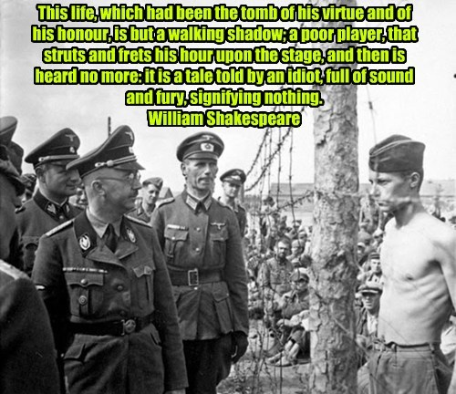 Allied POW confronts Nazi Himmler...