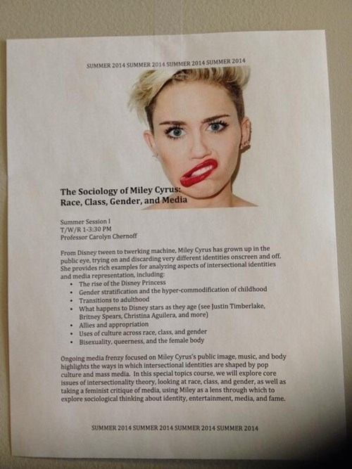 Finally, You Can Study Miley Cyrus for Credit