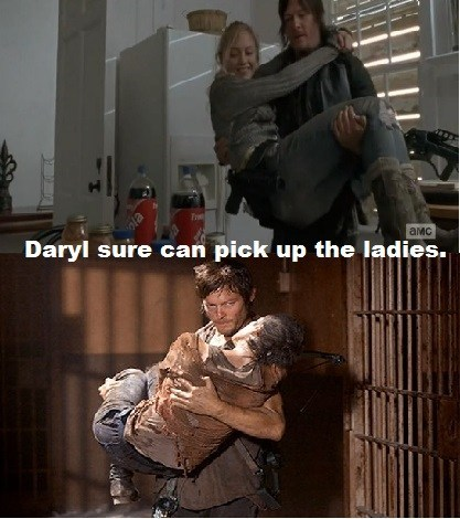 Daryl demonstrates how to pick up chicks.