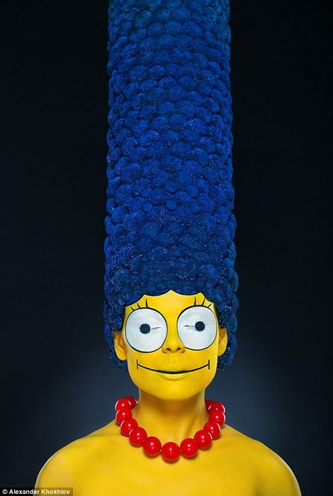 Nightmare Fuel of the Day: Real Life Marge Simpson is One of the Creepiest Things You Will Ever See