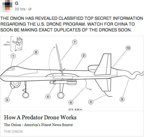 the onion,satire,drones