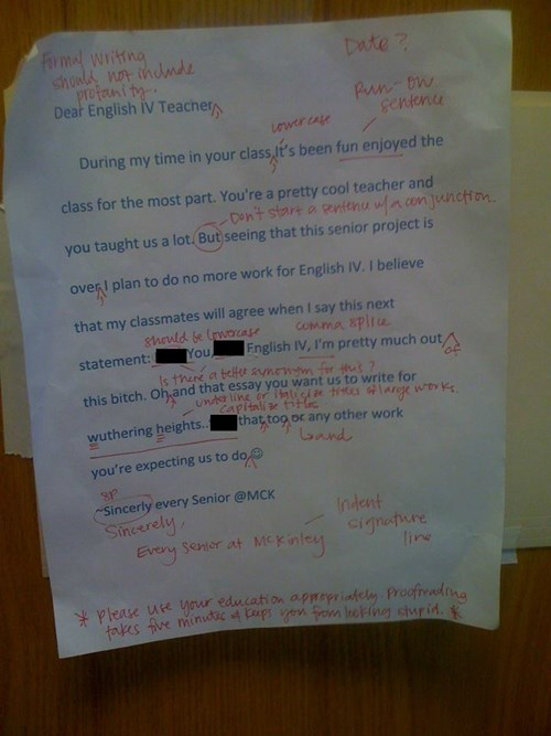 These Kids Thought They Were Telling Off Their English Teacher, but They Didn't Expect This Response