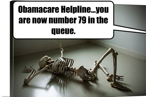 Obamacare Helpline...you are now number 79 in the queue.