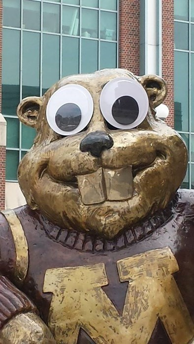 When Mascot Vandalism Gets Creepy
