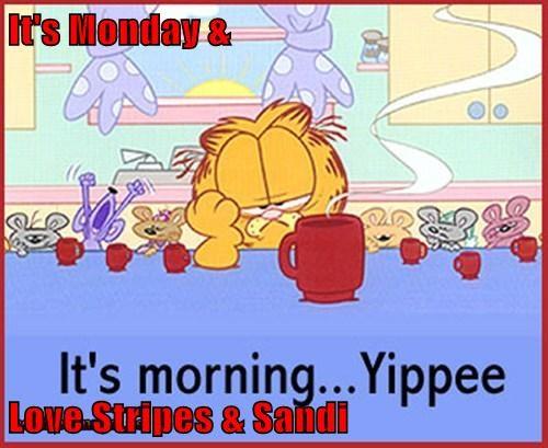 It's Monday &  Love Stripes & Sandi