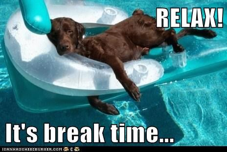 RELAX!  It's break time...