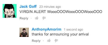 virgin alert,youtube,sick burn,youtube comments,burn
