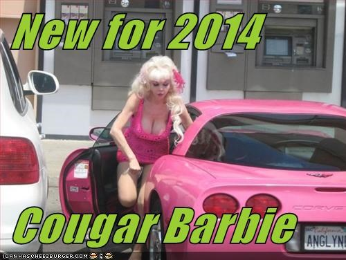 New for 2014  Cougar Barbie