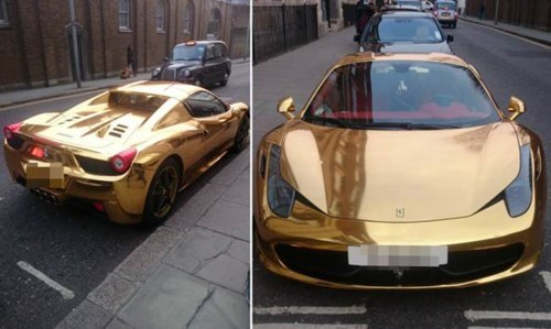 If A Ferrari 458 Spider Couldn't Get Any More Ridiculous, Here it is Wrapped in Gold