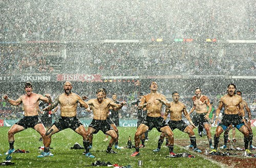 The New Zealand Soccer Team Celebrates Their Victory With a Rain-Drenched Haka