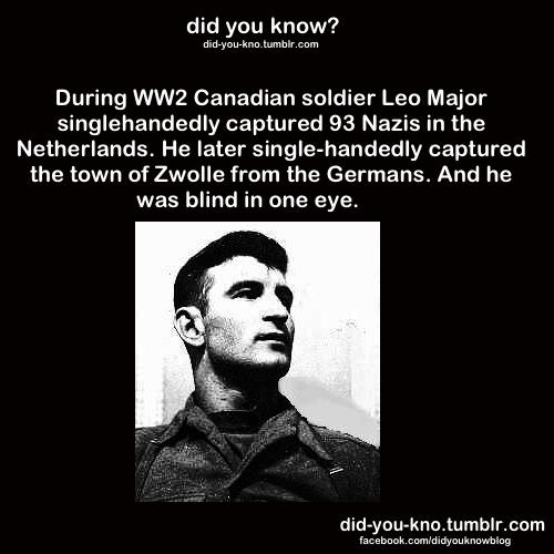Canada,did you know,leo major,world war II