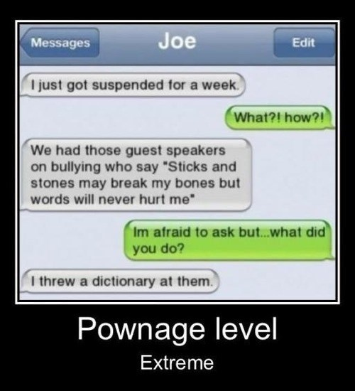 argument,sticks and stones,funny,point