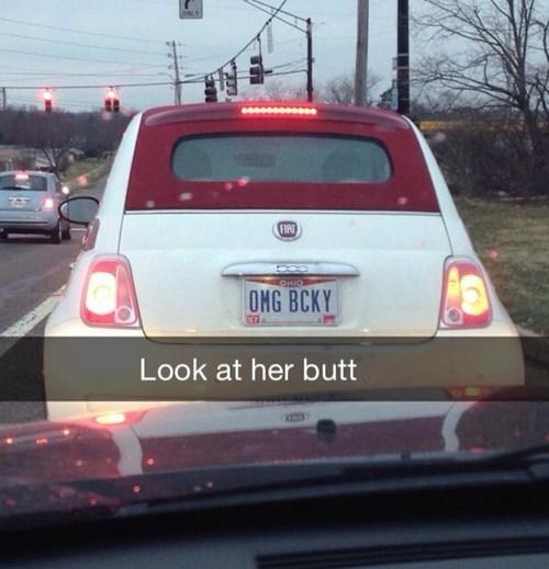 cars,butt stuff,butts,license plate,sir mix-a-lot