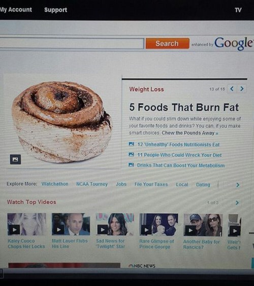 diet,Cinnabon,exercise,cinnamon buns,food,obesity