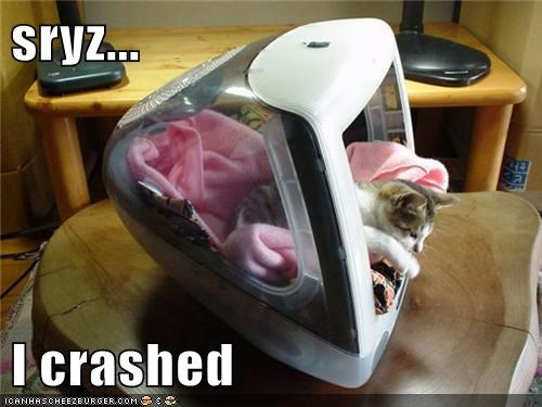 sryz...  I crashed